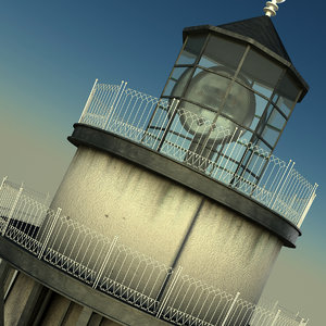 lighthouse light 1 3d c4d