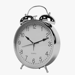 alarm table clock 3d 3ds