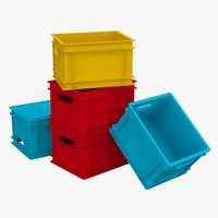 3d max plastic storage container