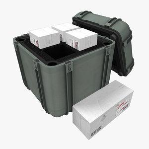 cube supply case 3d obj