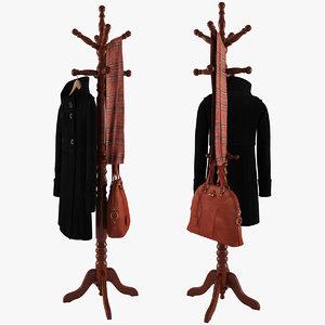 rack coat bag scarf max
