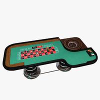 roulette wheel table 3d model