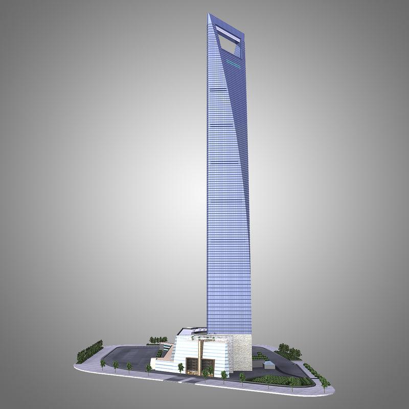 3dsmax shanghai world financial center