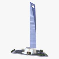 3dsmax shanghai world financial center