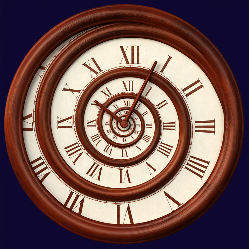 hypnotic spiral wall clock 3d model