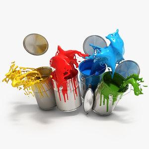 tins paint 3d model