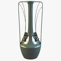 3d model grasshopper vase