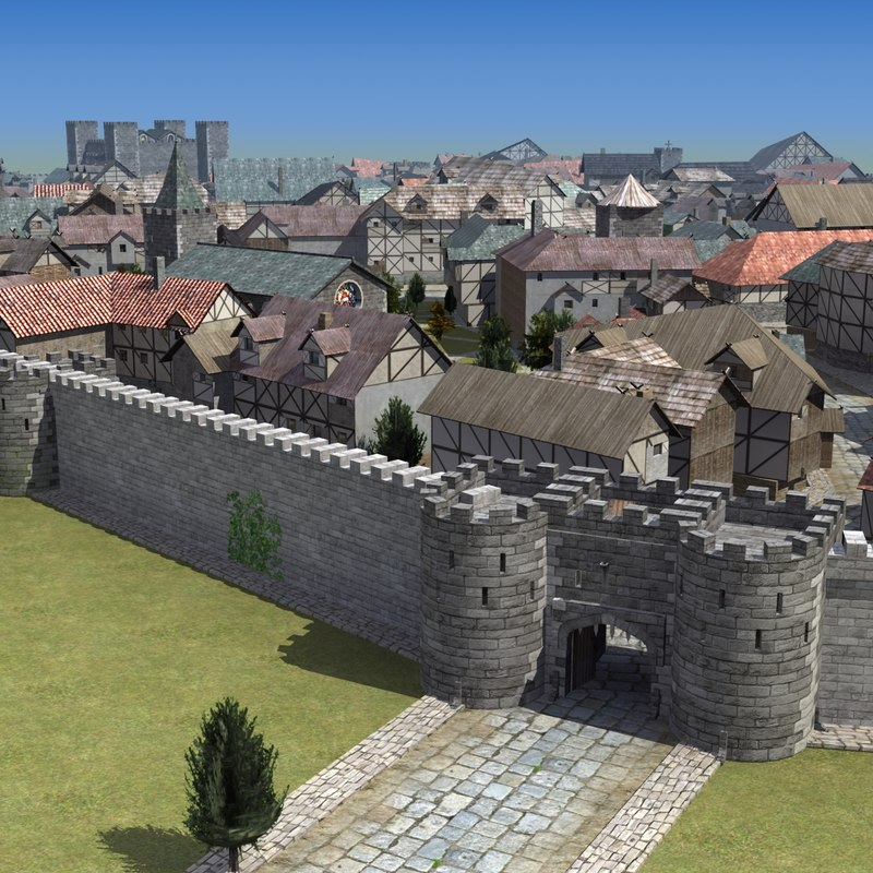 medieval town fbx