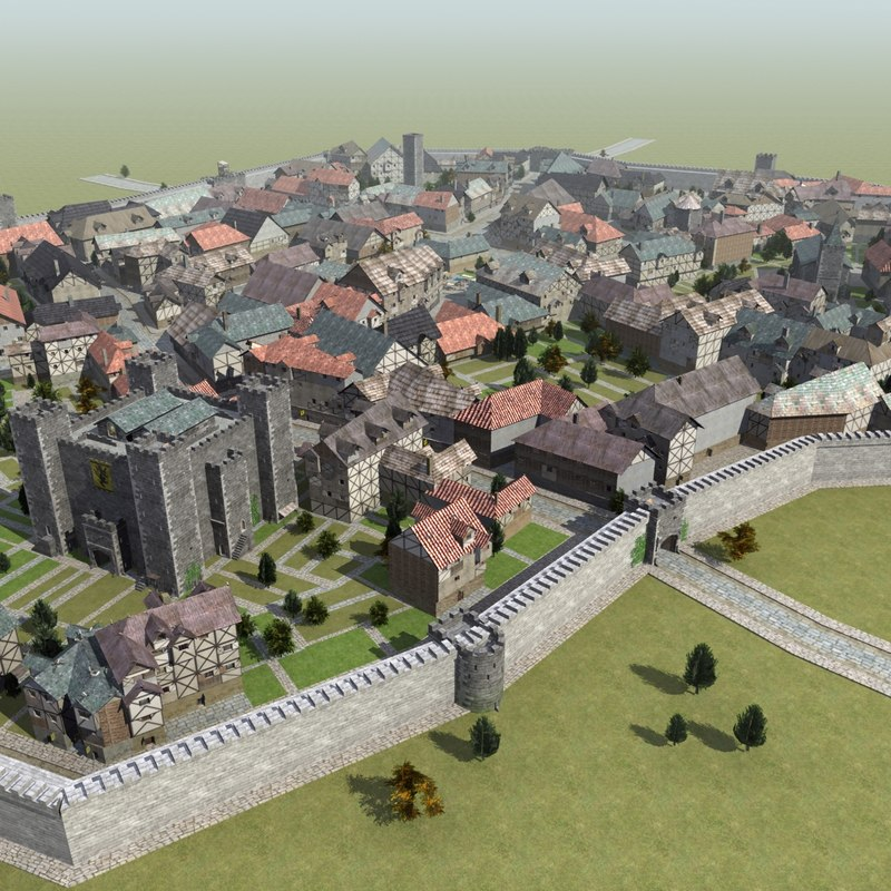 max medieval walled town