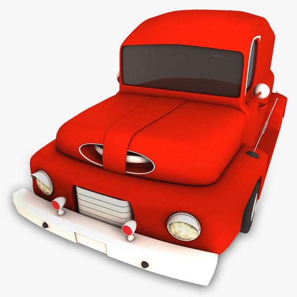 cartoon vintage car 3d max