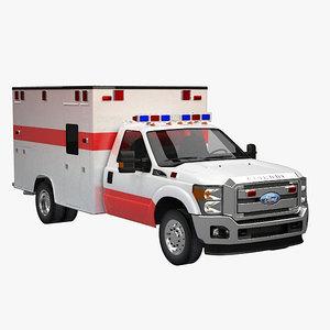 3d model ambulance super duty
