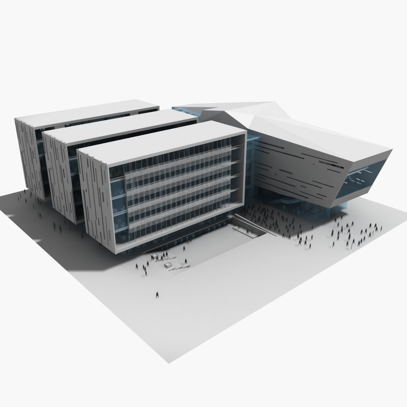 concert art theater 3d model