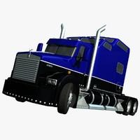 3d model t800 truck custom studio