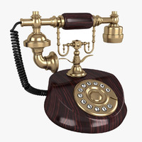 vintage telephone phone 3ds