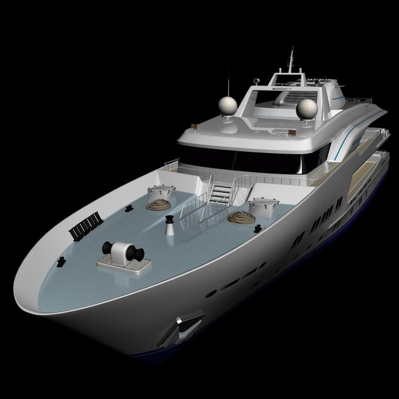 3d mega yacht cruise