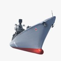 3d model moscow cruiser ship