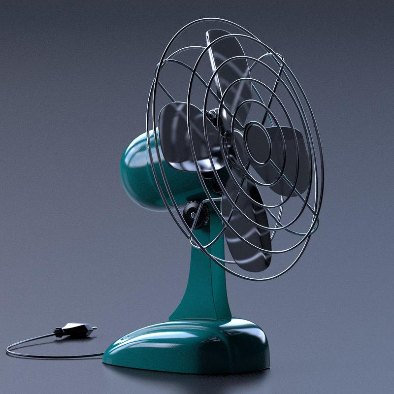 3d retro fan