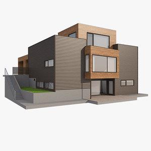3d realistic house nova nb model