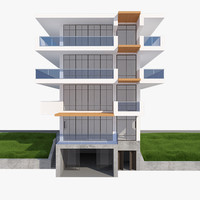 realistic house mh 006 3d model