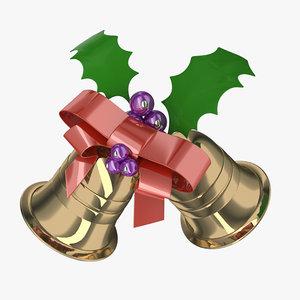christmas bell 3d 3ds
