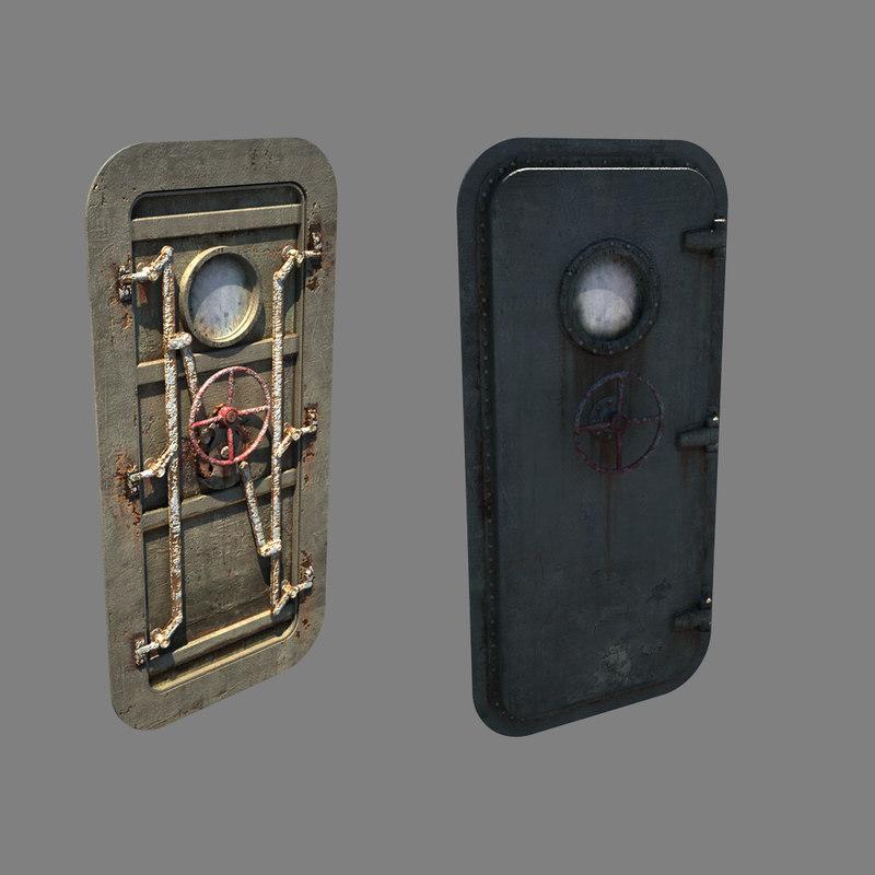 Watertight door 3d model for Door 3d model