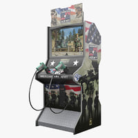 3d arcade americas army model