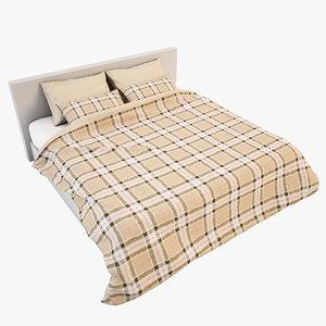 bedcloth bed 3d model