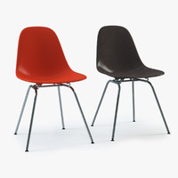 Photoreal Eames Plastic Side Chair DSX