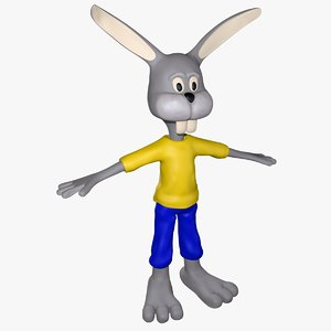3d model of funny bunny