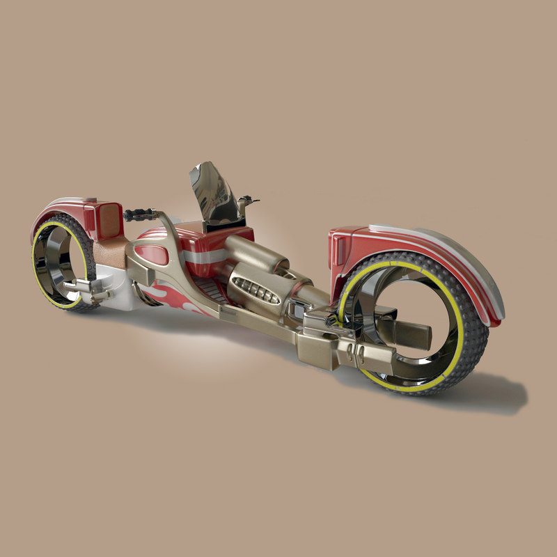 sci fi astral motorcycle 3d 3ds