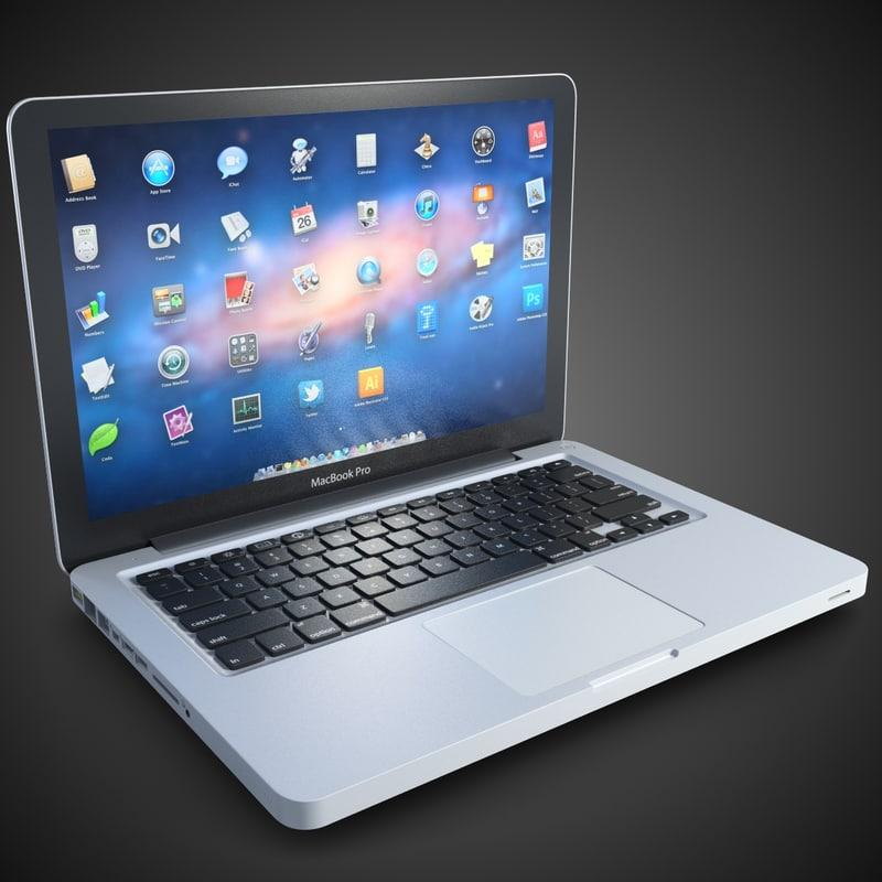 laptop apple macbook pro 3d model