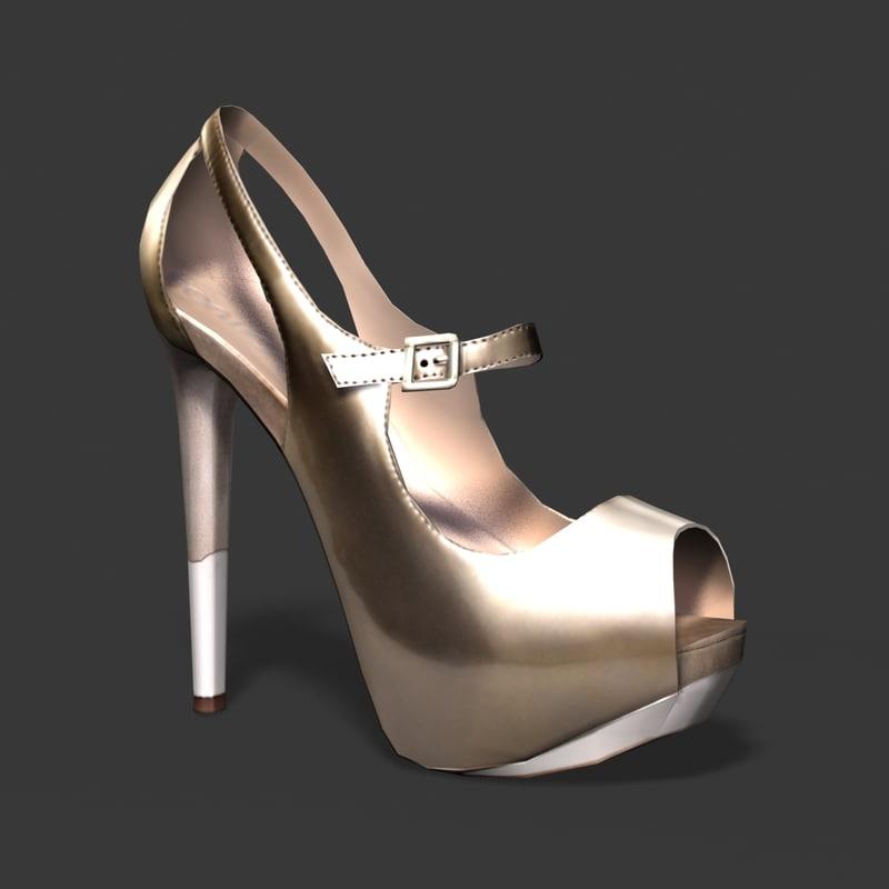 3ds max female heel