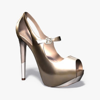 3ds max female heel