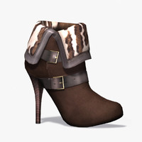 female heel boots 3d model