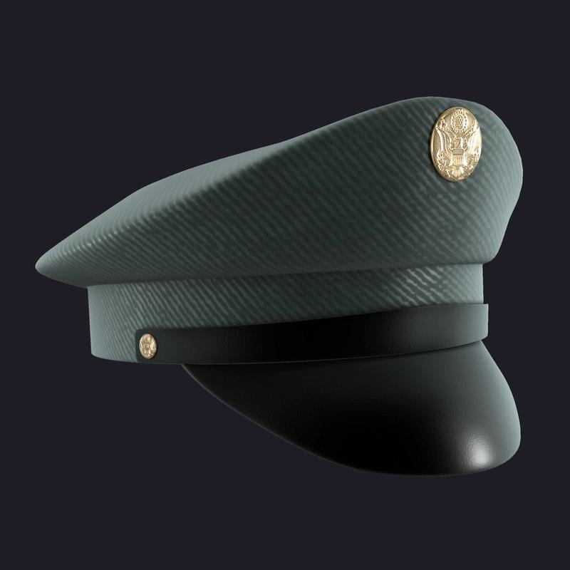 3d Model Military Cap Hat