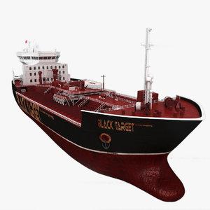 3d oil ship model