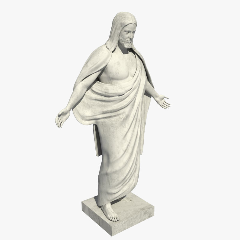 latter-day saints jesus statue 3d model