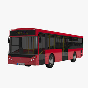 mercedes-benz om 926 city bus 3d model