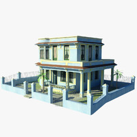 cuban house 3d max