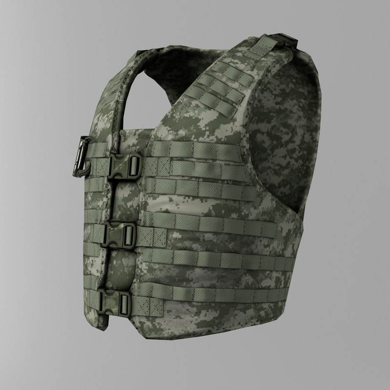 3d model easy bullet-proof vest