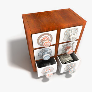 3d model occasional cupboard drawers