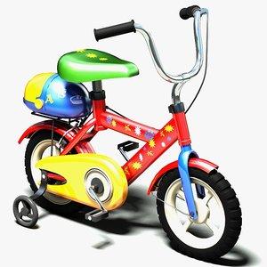 kid bike 3d model