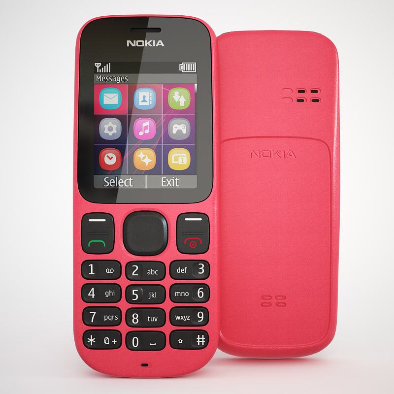 photorealistic nokia 100 cellphone 3d max