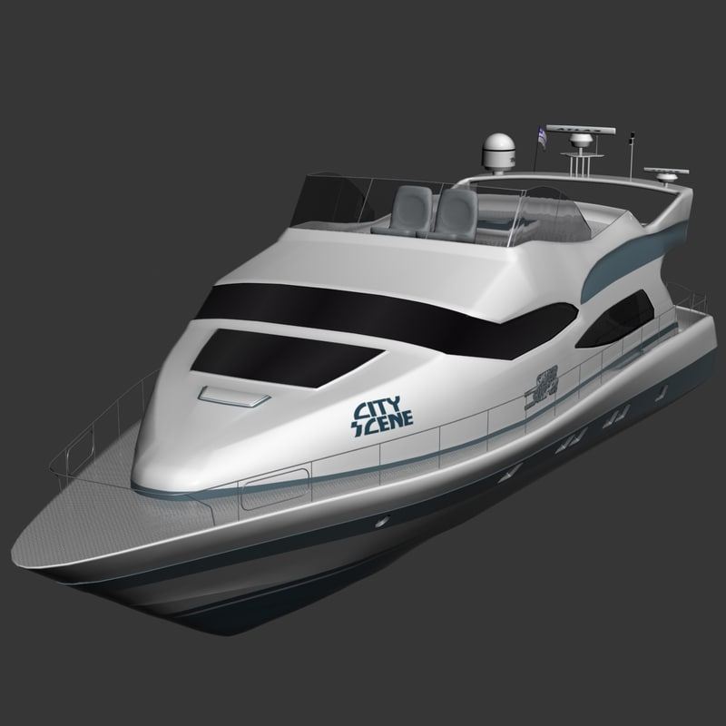 silver surfer yacht 3d model