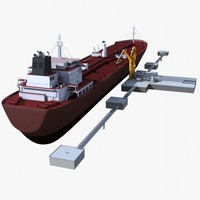 Oil Tanker with Dock