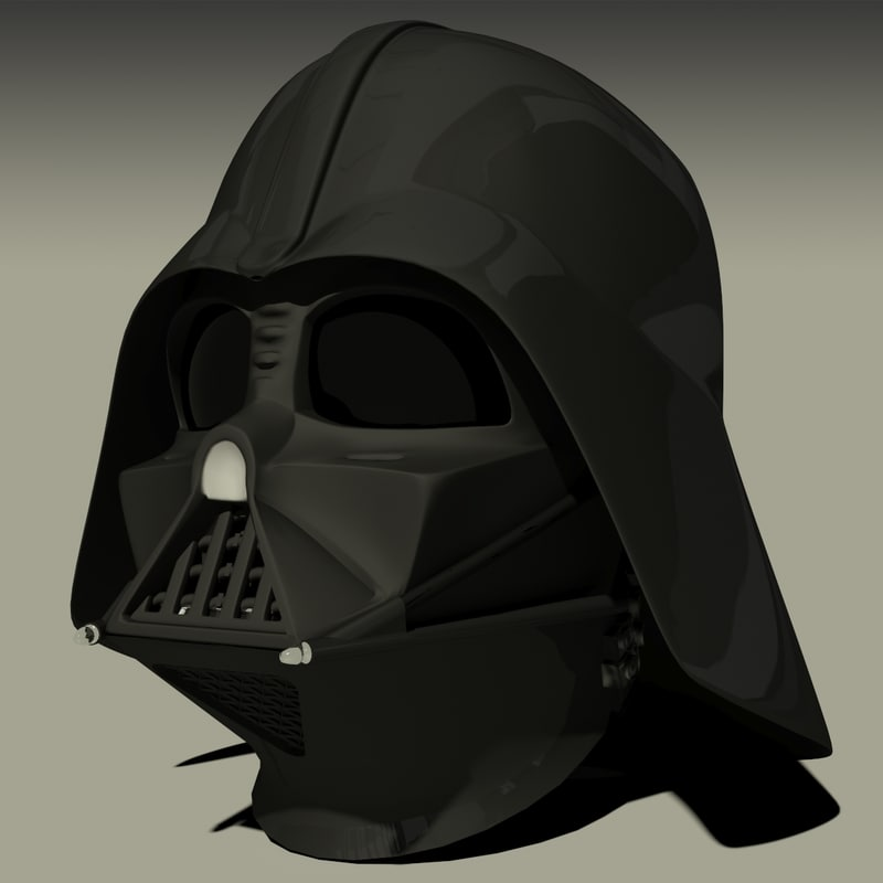 darth vaders mask helmet 3d max