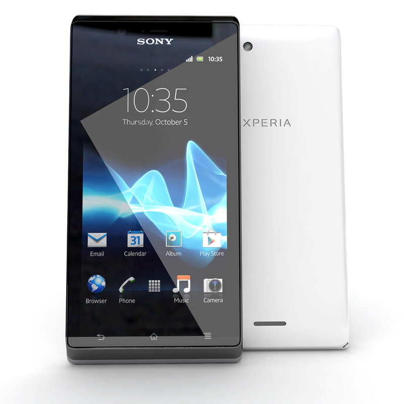 version sony xperia j 3d model