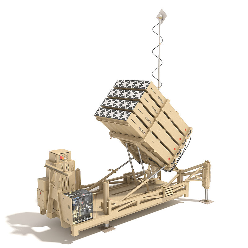3d model of iron dome