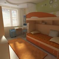 bedroom 2 3d model