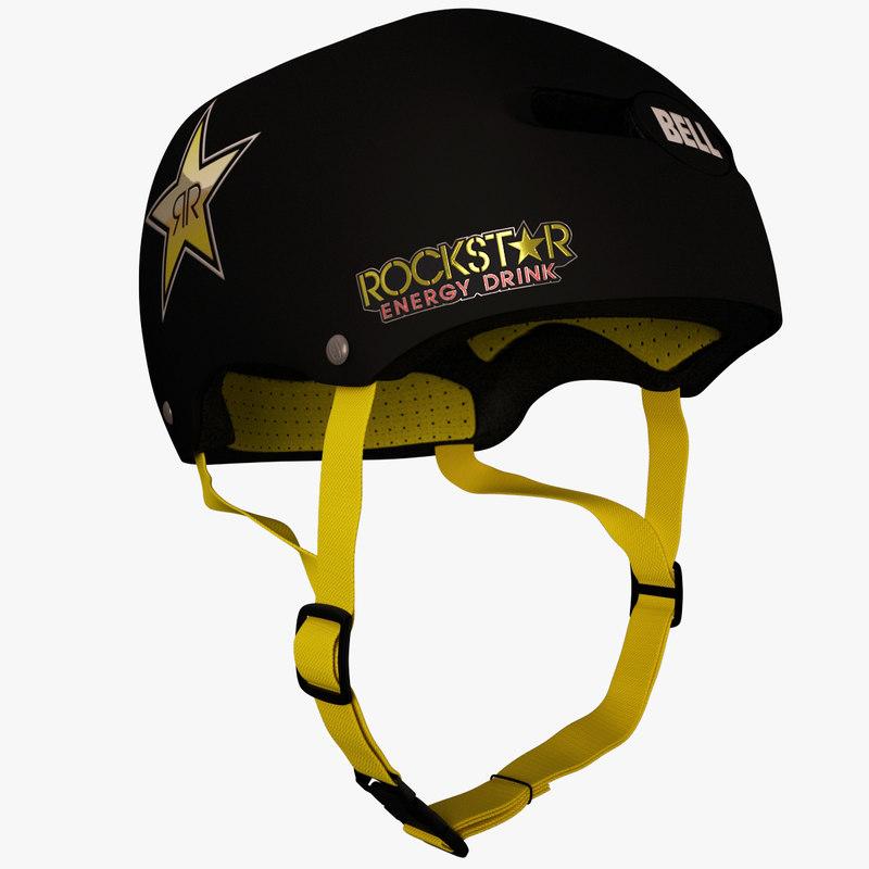 bell helmet rockstar edition 3d model